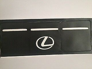 Car Van Road Tax, Insurance, NCT Disc Holder New Wallet Permit Black For Lexus