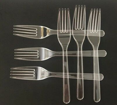 360-Disposable Formal, Clear, Extra Heavy Duty Washable.Reusable Forks