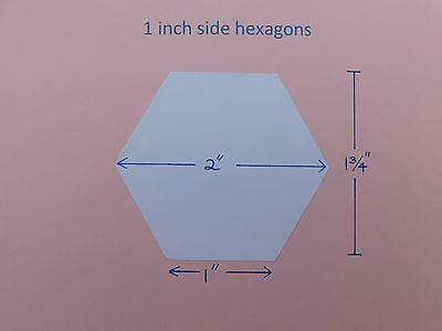 400 hexagon 1inch side paper templates 120gsm for English Paper Piecing Quilting