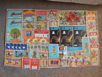 Large Vintage Firecracker Label Collection