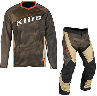 Klim Green Mens Dakar Dirt Bike Jersey & Dakar OTB Pants MX ATV 2018
