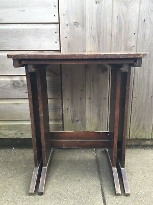 Antique Victorian Unusual Nest Of Tables. Use as is or Upcycle. Very Unique Wood