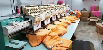 Tajima TMFXII-C1206S- 6-Head Electronic Embroidery Machine