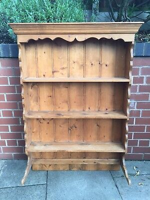 Antique Pine 3 Tier Plate Rack/Shelving Unit Use As Is Or Upcycling Project.