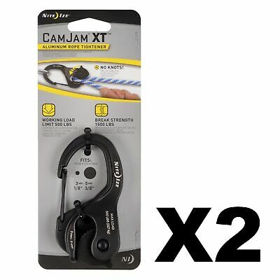 Nite Ize CamJam XT Aluminum Rope Tightener Large Heavy-Duty Cord & Cable 2-Pack