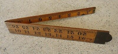 Vintage RABONE  English Boxwood RULER 36 inches No 1167 Old Antique Tool