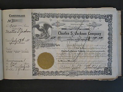 Antique African American Chicago Mortician Undertaker Stock Certificates 1931 Il