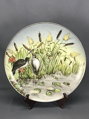 Chas Field Haviland CFH Limoges Hand Painted Artist Signed Marsh Scene Charger