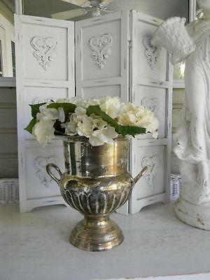 The Best Old Silverplate Champagne Handled Ice Bucket Trophy Urn~Patina~Ghosting