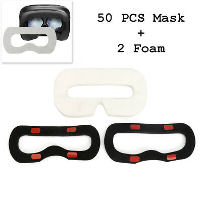 50 Disposable Sanitary Facial Mask Eye Mask + 2 Foam for HTC VIVE VR Headset