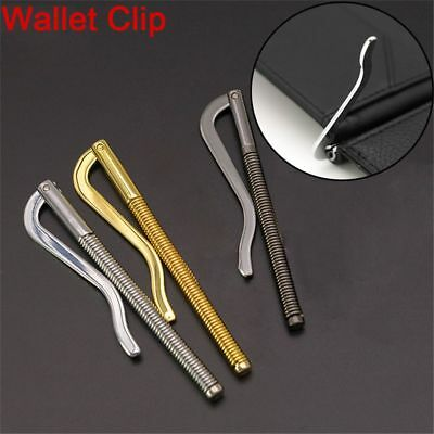 Steel Bifold Money Clip Bar Wallet Replace Parts Spring Clamp Cash Holder