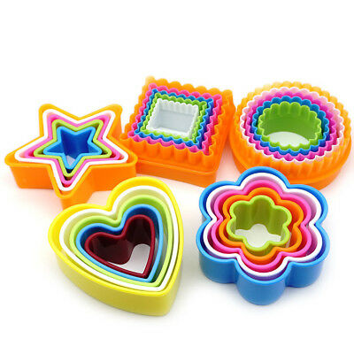 5 Pcs Colourful Food Grade Cake Cookie Cutter Mold Food Tools DIY Clay Mould