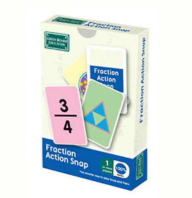 Brain Box Fraction Action Snap Maths Card Game Numbers Year 3