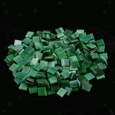 250x Square Glass Mosaic Tiles Pieces for DIY Crafts Mosaic Making Green