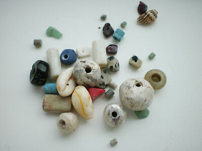 Beautiful Set RARE ANCIENT Viking BEADS Different Colors 7 - 9 century AD №7