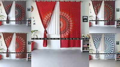 Indian Wall Hanging Queen Size Mandala Cotton Curtains Ethnic Handmade Home Art