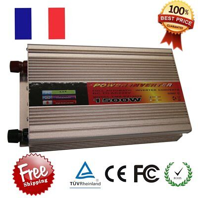Voiture Onduleur Auto 1500W 3000W Pur Sinus 12V 220V Aapteur Power Inverter GB