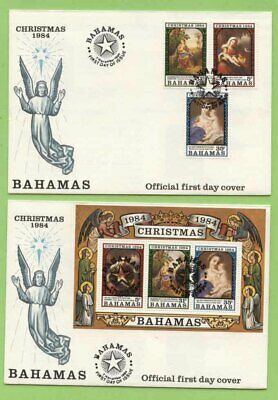 Bahamas 1984 Christmas set & miniature sheet on First Day Cover