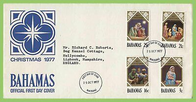 Bahamas 1977 Christmas set on First Day Cover