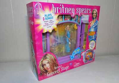Britney Spears Concert Stage set NIB 2001 Play Along doll rare find Unopened!