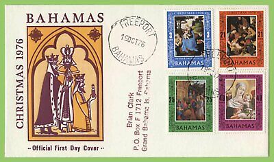 Bahamas 1976 Christmas set on First Day Cover