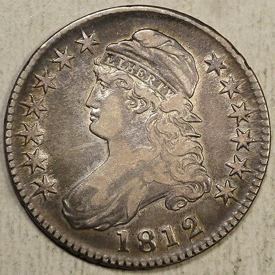 1812 Bust Half Dollar, O-104, Very Fine, Nice Coin with Some Luster   0713-02