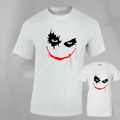 Joker Face Halloween Costume Horror Fancy Dress fun Top T-SHIRT Mens Ladies fit