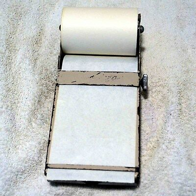Antique metal old style order pad writer with storage tray