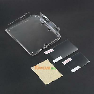Transparent Clear Plastic Hard Case Cover Protector Shell +Film for Nintendo 2DS