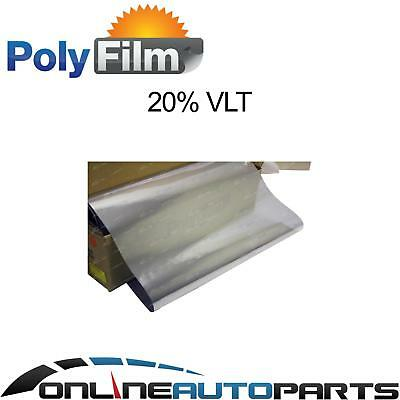 20% Silver Mirror Reflective Glass Window Film 152cm 10m Bulk Roll Solar Tint