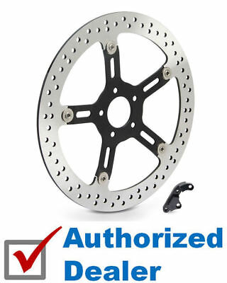 "Arlen Ness Left Side 14"" Front Big Brake Rotor Kit 2000-2007 Harley FLT Touring"