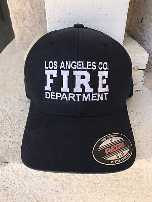 Los Angeles County Fire Department Official Work Hat White FIRE
