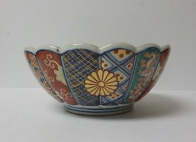 "19th C. JAPANESE IMARI DECORATED 8.75"" DEEP BOWL, MEIJI PERIOD (1868-1913)"