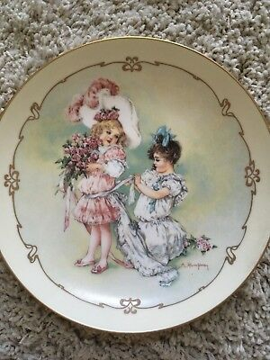 Playing Bridesmaid by Maud Humphrey Bogart Collector Plate 1989