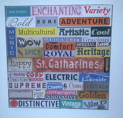 Original Artwork PHOTO MONTAGE / COLLAGE St Catharines Ontario Business Signs