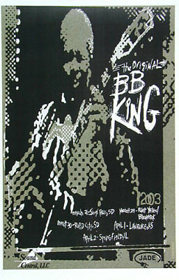 The Original BB King - 2003 Tour Poster - Sioux Falls to Springfield - Blues R/B