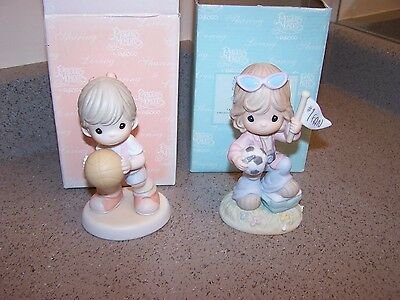 2 SPORTS - PRECIOUS MOMENTS FIGURINES - in boxes