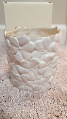 Lenox Votive Tealight Holder Flower White Porcelain Poppies Can You Find It? NEW