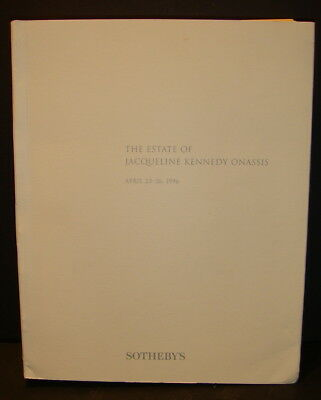 April 1996 Sotheby's Auction Catalog Estate of Jacqueline Kennedy Onassis