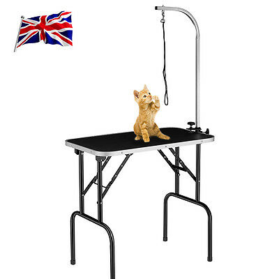 UK New Pet Dog Stainless Arm Bath Grooming Table Beauty Desk