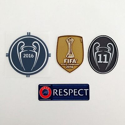Real Madrid 16-17 Champions league patches set  SportingID respect player issue