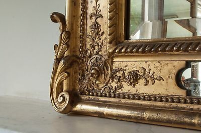 Pier Glass Overmantle French Mirror