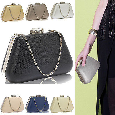 Women's Handbag Hard Box Clutch Ladies Crystal Evening Prom Party Wedding Purse