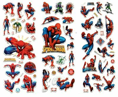 10 x SPIDERMAN  Sticker strips for Party Bag Fillers Birthday,  party favours