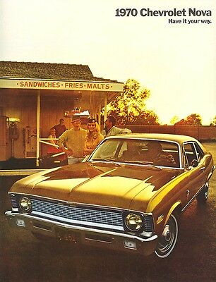 1970 Chevrolet Nova Sales Brochure Coupe/Sedan/SS