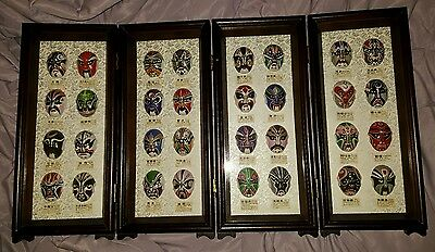 Oriental Vintage Chinese Tradition Face Mask Screen Unique Gift Home Decor Mount