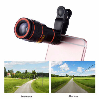 Clip-on 8x Optical Zoom HD Telescope Camera Lens For Universal Mobile Cell Phone