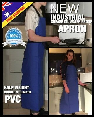 Industrial PVC Apron Heavy Duty Waterproof Kitchen Cooking Protective Long Apron