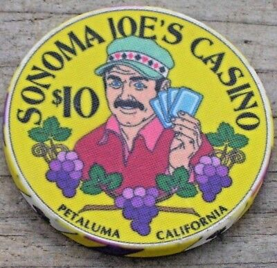 $10 Ltd North Bay Poker Classic Chip From Sonoma Joe's Casino Petaluma Ca
