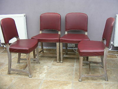 4 x  solid beech Vintage / Antique style Shabby Chic Kitchen / dining chairs